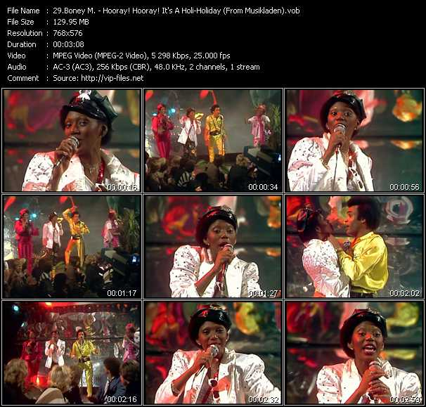 Boney M. - Hooray! Hooray! It's A Holi-Holiday (From Musikladen)