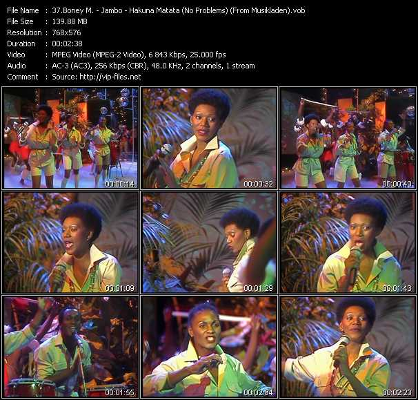 Boney M. - Jambo - Hakuna Matata (No Problems) (From Musikladen)