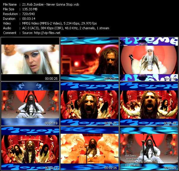 Rob Zombie - Never Gonna Stop