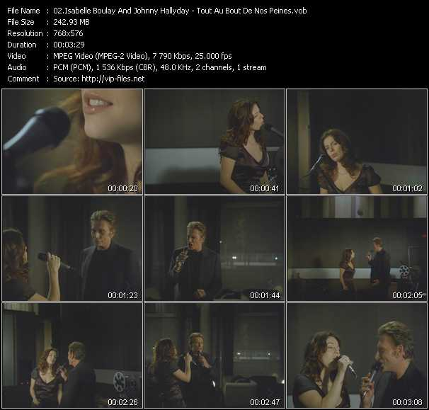 Isabelle Boulay And Johnny Hallyday - Tout Au Bout De Nos Peines