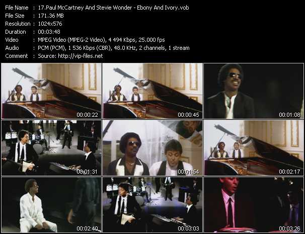 Paul McCartney And Stevie Wonder - Ebony And Ivory