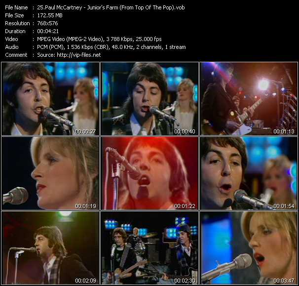 Paul McCartney - Junior's Farm (From Top Of The Pops)