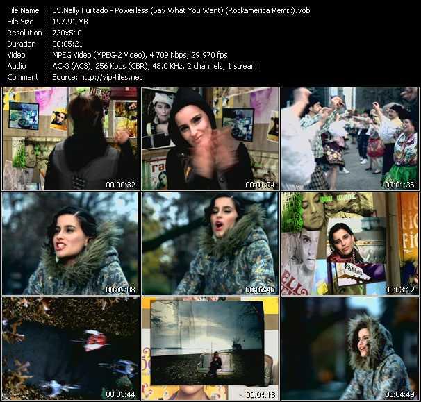 Nelly Furtado - Powerless (Say What You Want) (Rockamerica Remix)