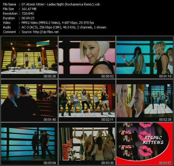 Atomic Kitten - Ladies Night (Rockamerica Remix)