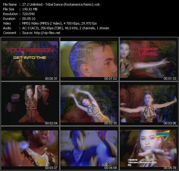 2 Unlimited - Tribal Dance (Rockamerica Remix)