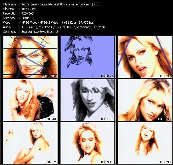 Tatjana - Santa Maria 2003 (Rockamerica Remix)