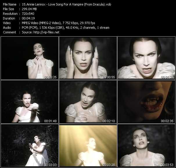 Annie Lennox - Love Song For A Vampire (From Dracula)