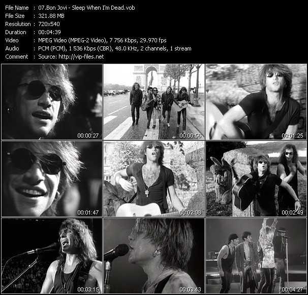 Bon Jovi - Sleep When I'm Dead