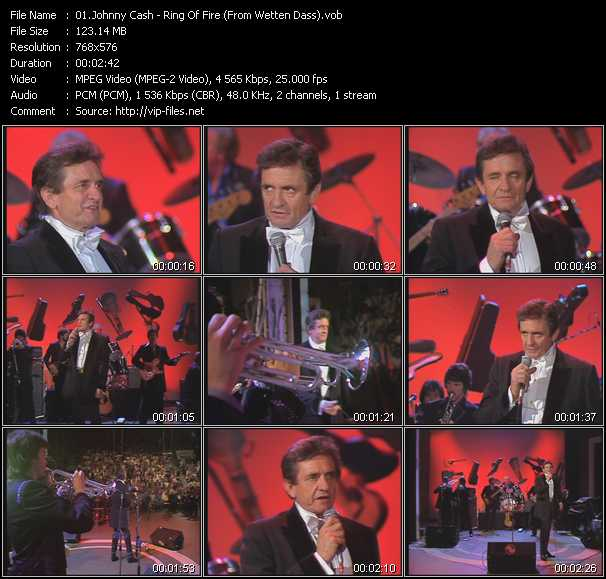 Johnny Cash - Ring Of Fire (From Wetten Dass)
