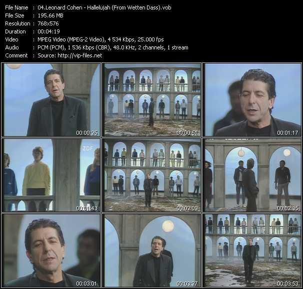 Leonard Cohen - Hallelujah (From Wetten Dass)