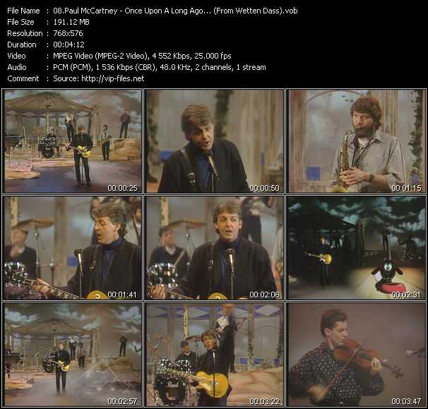 Paul McCartney - Once Upon A Long Ago... (From Wetten Dass)