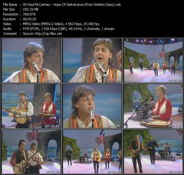 Paul McCartney - Hope Of Deliverance (From Wetten Dass)