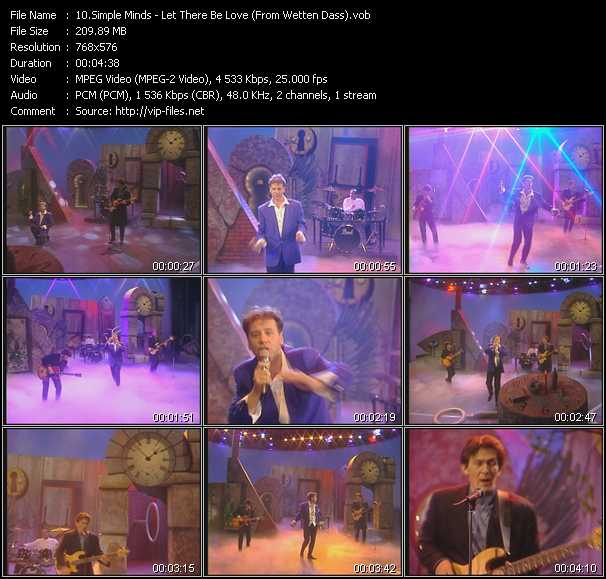 Simple Minds - Let There Be Love (From Wetten Dass)