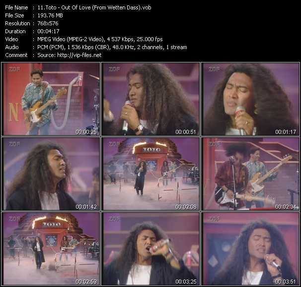 Toto - Out Of Love (From Wetten Dass)