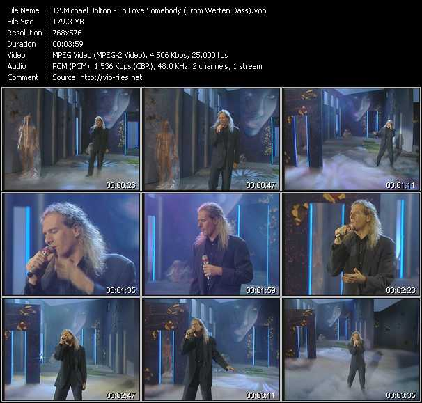 Michael Bolton - To Love Somebody (From Wetten Dass)