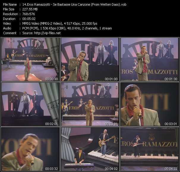 Eros Ramazzotti - Se Bastasse Una Canzone (From Wetten Dass)