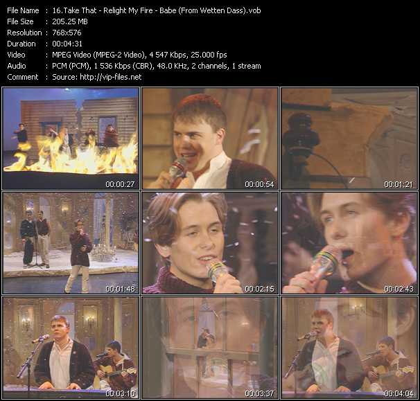 Take That - Relight My Fire - Babe (From Wetten Dass)
