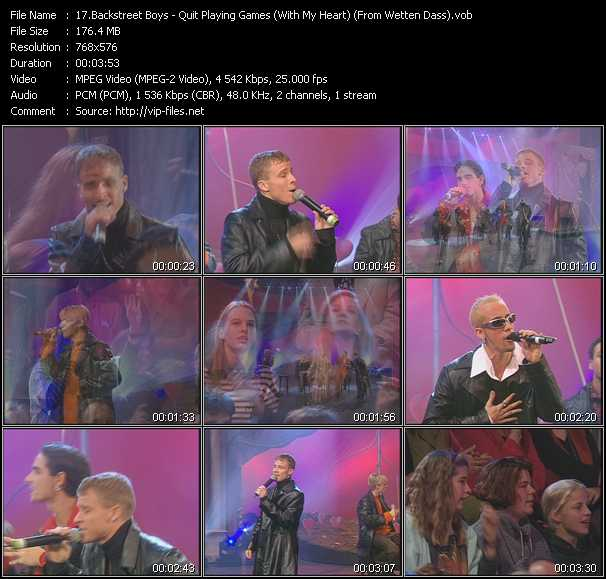 Backstreet Boys - Quit Playing Games (With My Heart) (From Wetten Dass)