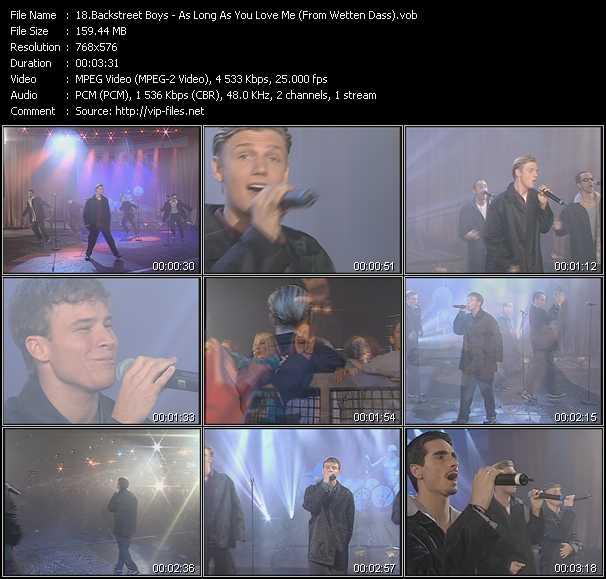 Backstreet Boys - As Long As You Love Me (From Wetten Dass)