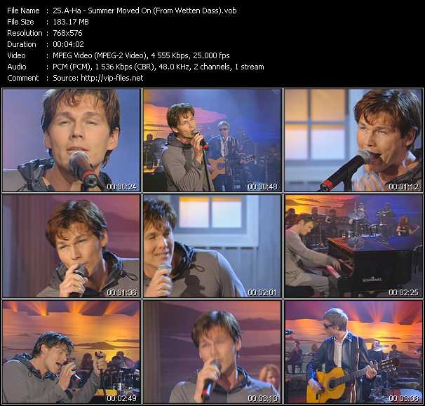 A-Ha - Summer Moved On (From Wetten Dass)