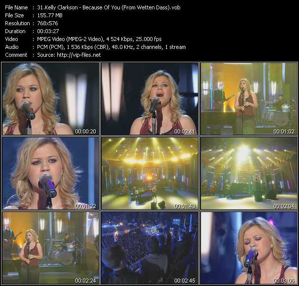 Kelly Clarkson - Because Of You (From Wetten Dass)