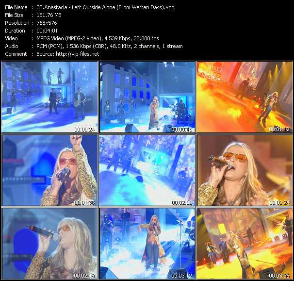 Anastacia - Left Outside Alone (From Wetten Dass)