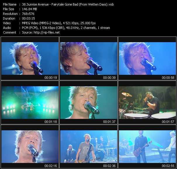 Sunrise Avenue - Fairytale Gone Bad (From Wetten Dass)