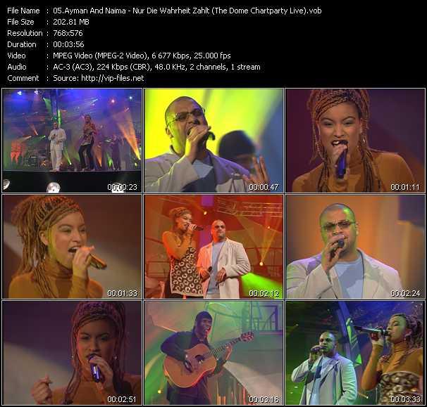 Ayman And Naima - Nur Die Wahrheit Zahlt (The Dome Chartparty Live)