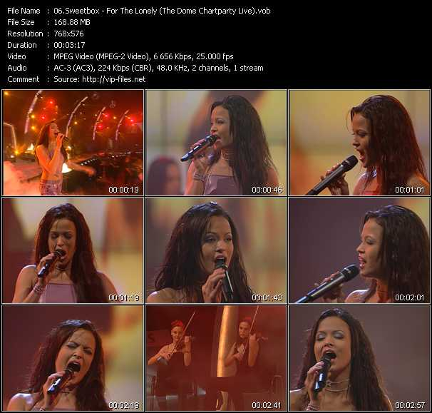 Sweetbox - For The Lonely (The Dome Chartparty Live)