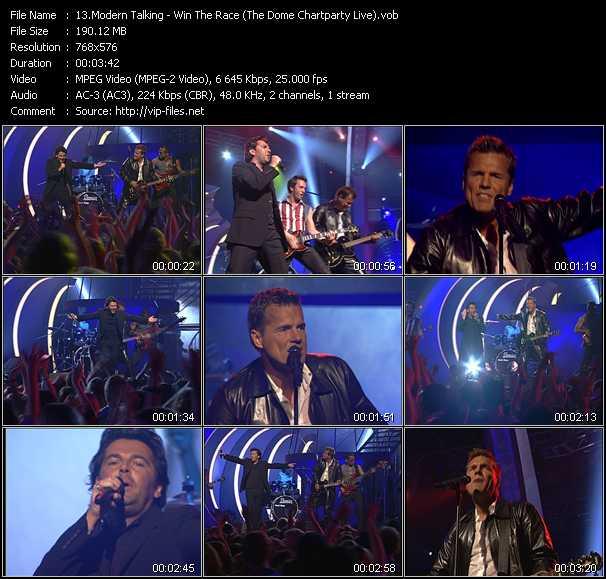 Modern Talking - Win The Race (The Dome Chartparty Live)