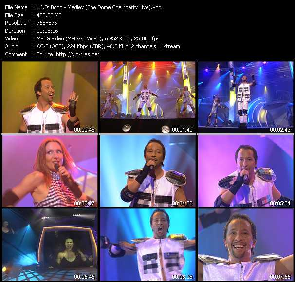 Dj Bobo - Medley (There Is A Party - It's My Life - What A Feeling - Pray) (The Dome Chartparty Live)