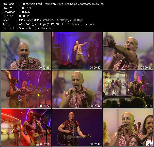 Right Said Fred - You're My Mate (The Dome Chartparty Live)