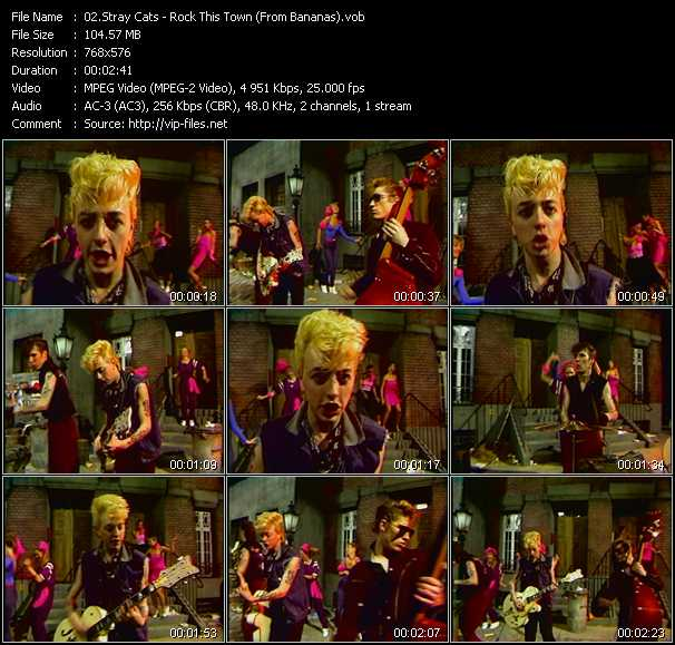 Stray Cats - Rock This Town (From Bananas)