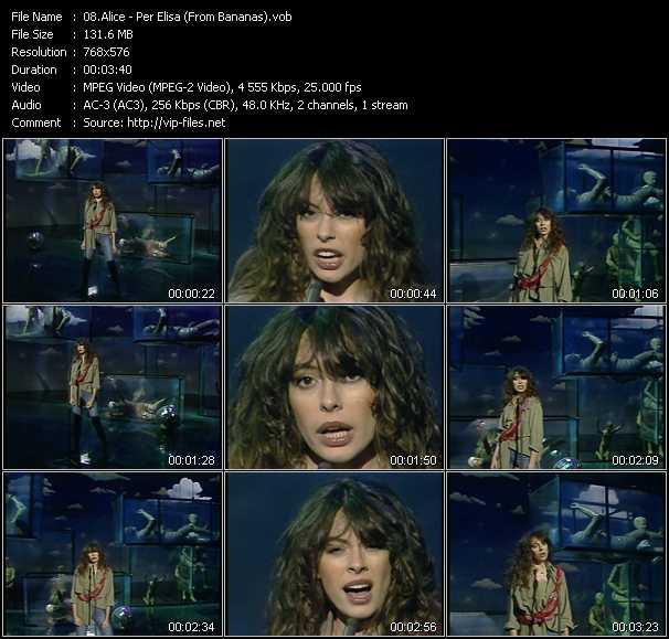 Alice - Per Elisa (From Bananas)