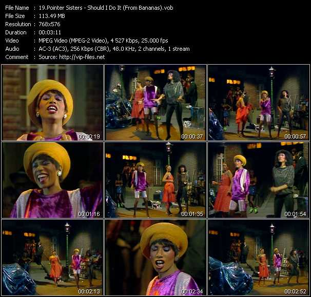 Pointer Sisters - Should I Do It (From Bananas)
