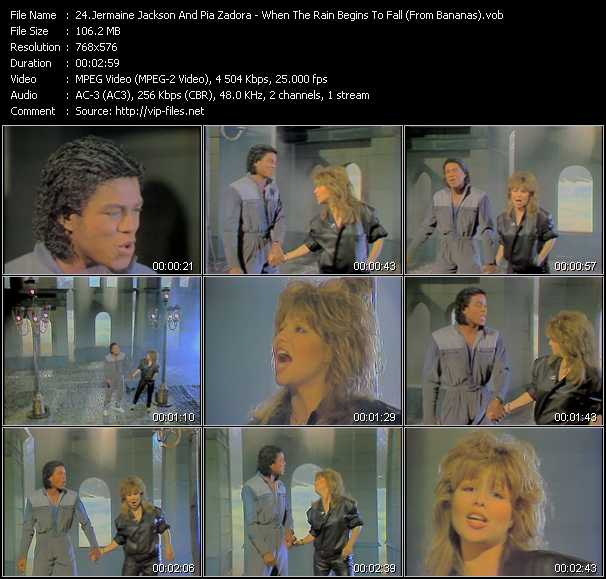 Jermaine Jackson And Pia Zadora - When The Rain Begins To Fall (From Bananas)