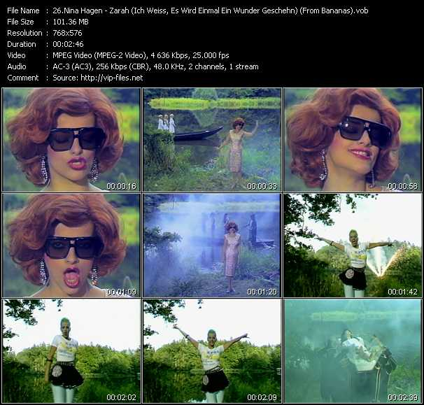 Nina Hagen - Zarah (Ich Weiss, Es Wird Einmal Ein Wunder Geschehn) (From Bananas)