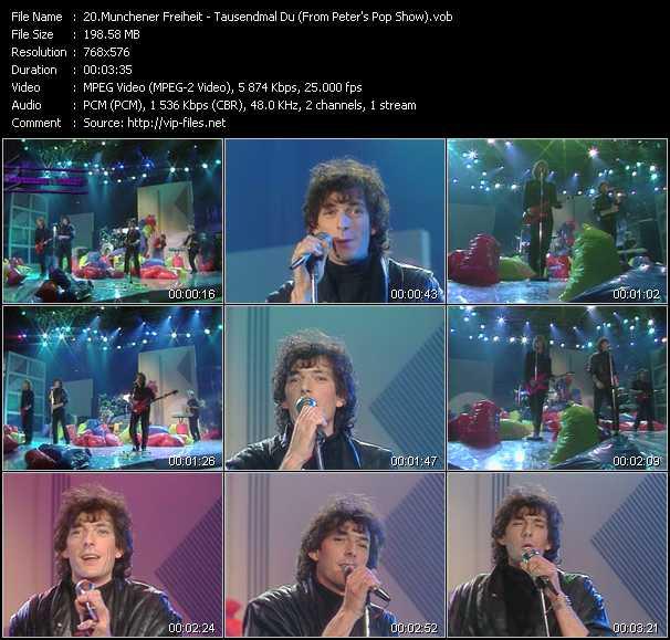 Munchener Freiheit - Tausendmal Du (From Peter's Pop Show)