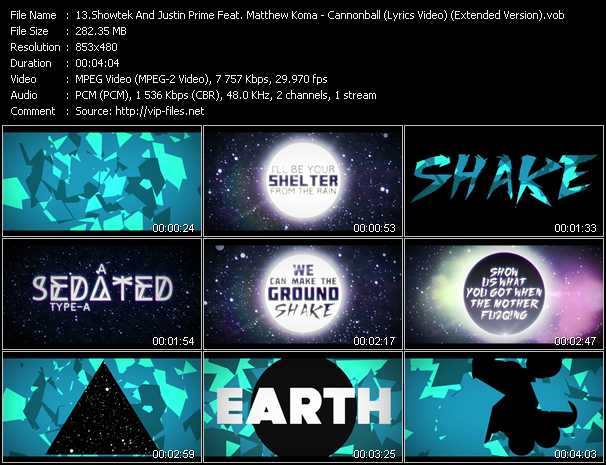 Showtek And Justin Prime Feat. Matthew Koma - Cannonball (Earthquake) (Lyrics Video) (Extended Version)