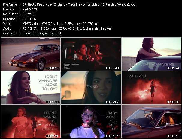Tiesto Feat. Kyler England - Take Me (Lyrics Video) (Extended Version)