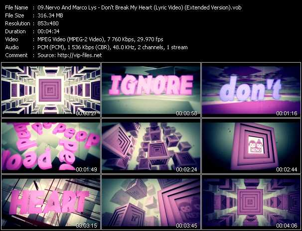 Nervo And Marco Lys - Don't Break My Heart (Lyric Video) (Extended Version)