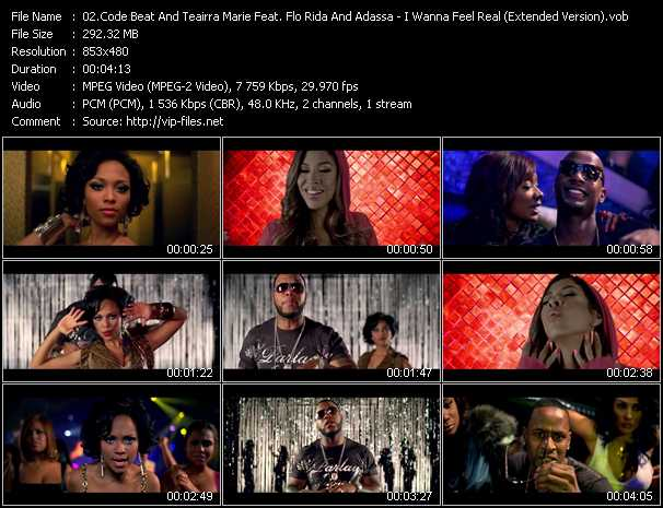Code Beat And Teairra Marie Feat. Flo Rida And Adassa - I Wanna Feel Real (Extended Version)