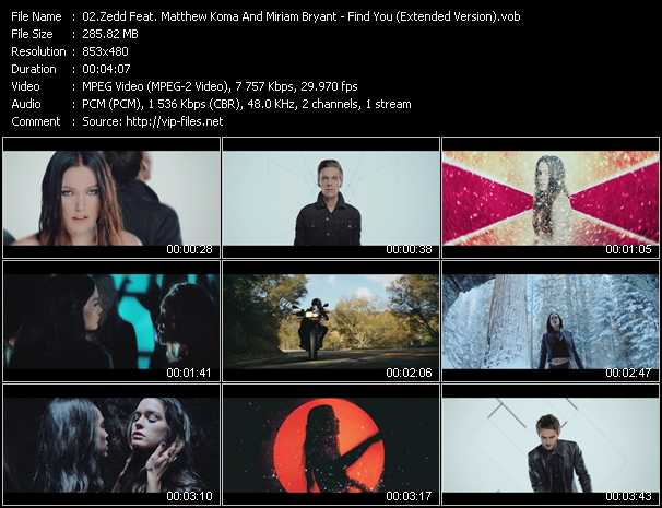 Zedd Feat. Matthew Koma And Miriam Bryant - Find You (Extended Version)