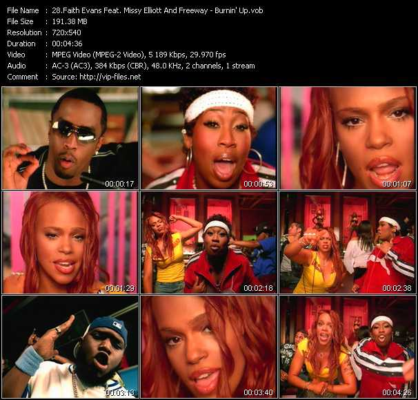 Faith Evans Feat. Missy Elliott And Freeway - Burnin' Up
