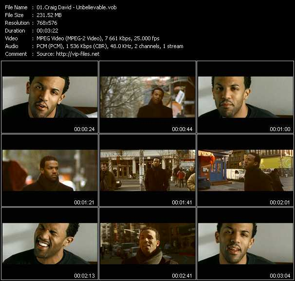 Craig David - Unbelievable