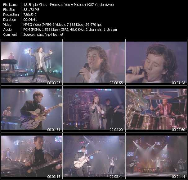 Simple Minds - Promised You A Miracle (1987 Version)