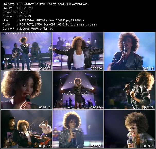 Whitney Houston - So Emotionall (Club Version)
