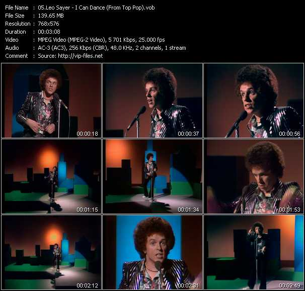 Leo Sayer - I Can Dance (From Top Pop)
