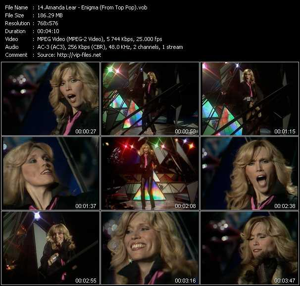 Amanda Lear - Enigma (From Top Pop)