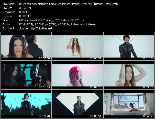 Zedd Feat. Matthew Koma And Miriam Bryant - Find You (Tritonal Remix)